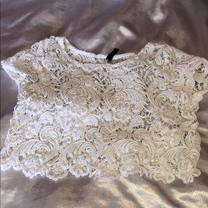 White see-through shirt